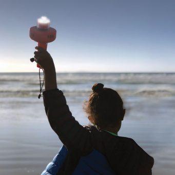 C-1003 eVDSD child on beach